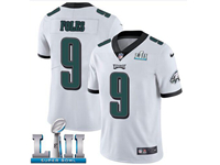 Mens Women Youth Nfl Philadelphia Eagles #9 Nick Foles White 2018 Super Bowl Lii Bound Vapor Untouchable Limited Jersey