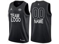 Mens Nba Custom Made 2018 All Star Black Jersey