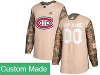 Mens Nhl Montreal Canadiens Custom Made Khaki Camo Adidas General Jersey