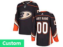 Mens Adidas Anaheim Mighty Ducks (custom Made) Black Jersey