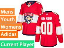 Mens Women Youth Adidas Florida Panthers Red Home Current Player Jersey