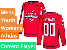 Mens Women Youth Adidas Washington Capitals Red Home Current Player Jersey