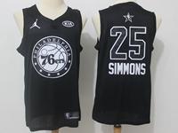 Mens Nba 2018 All Star Philadelphia 76ers #25 Ben Simmons Black Jersey