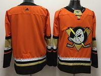 Mens Nhl Anaheim Mighty Ducks Custom Made Orange Adidas Jersey