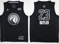 Mens 2018 All Star Nba Minnesota Timberwolves #23 Jimmy Butler Black Jersey