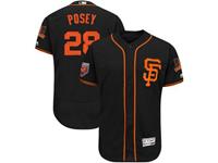 Mens Mlb San Francisco Giants #28 Buster Posey Majestic Black 2018 Spring Training Flex Base Player
