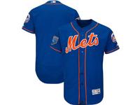 Mens Mlb New York Mets Blank Majestic Blue 2018 Spring Training Flex Base Team Jersey