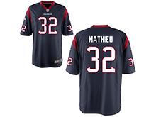 Mens Womens Youth Houston Texans #32 Tyrann Mathieu Nave Nike Game Jersey