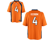 Mens Womens Youth Nfl Denver Broncos #4 Case Keenum Orange Nike Game Jersey