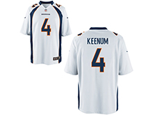 Mens Womens Youth Nfl Denver Broncos #4 Case Keenum White Nike Game Jersey