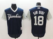 Mens Mlb New York Yankees #18 Sir Didi Blue 2017 Players Weekend Jersey