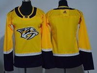 Women Youth Nhl Nashville Predators Blank Gold Adidas Jersey
