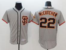 Mens Mlb San Francisco Giants #22 Mccutchen Sf Gray Flex Base Jersey