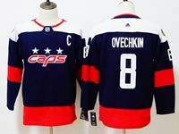 Women Youth Nhl Washington Capitals #8 Alexander Ovechkin Blue 2018 Stadium Series Pro Player Adidas Jersey