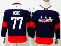 Women Youth Nhl Washington Capitals #77 T. J. Oshie Blue 2018 Stadium Series Pro Player Adidas Jersey