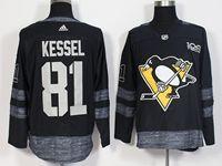 Mens Nhl Pittsburgh Penguins #81 Phil Kessel 100th Anniversary Black Adidas Jersey