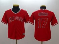 Women Youth Mlb Los Angeles Angels #17 Shohei Ohtani Red Cool Base Jersey