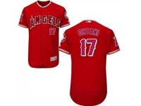 Mens Mlb Los Angeles Angels #17 Shohei Ohtani Red Pullover Flex Base Jersey