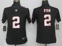 Women Nfl Atlanta Falcons #2 Matt Ryan Black Vapor Untouchable Elite Player Nike Jersey