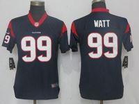 Women Nfl Pittsburgh Steelers #90 T. J. Watt Navy Blue Vapor Untouchable Elite Player Jersey