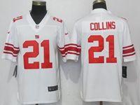 Mens New York Giants #21 Landon Collins White Vapor Untouchable Limited Player Jersey