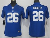 Women Nfl New York Giants #26 Saquon Barkley Blue Vapor Untouchable Elite Player Jersey
