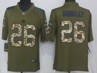 Mens Nfl New York Giants #26 Saquon Barkley Green Salute To Service Nike Limited Jersey