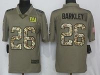 Mens Nfl New York Giants #26 Saquon Barkley Green Olive Camo Carson 2017 Salute To Service Limited Jersey