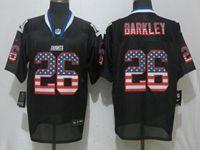 Mens Nfl New York Giants #26 Saquon Barkley Black Usa Flag Fashion Elite Nike Jerseys