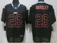 Mens Nfl New York Giants #26 Saquon Barkley Black Lights Out Elite Nike Jersey
