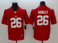 Mens Nfl New York Giants #26 Saquon Barkley Red Vapor Untouchable Limited Nike Jersey