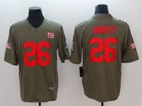 Mens Nfl New York Giants #26 Saquon Barkley Green Olive Salute To Service Limited Nike Jersey