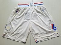 Mens Nba Philadelphia 76ers White Shorts