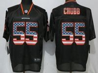 Mens Nfl Denver Broncos #55 Bradley Chubb Black Usa Flag Fashion Elite Nike Jerseys