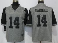 Mens New York Jets #14 Sam Darnold Gray Vapor Untouchable Stitched Gridiron Limited Jersey