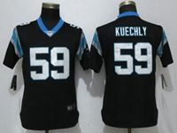 Women Nfl Carolina Panthers #59 Luke Kuechly Black Vapor Untouchable Elite Player Nike Jersey