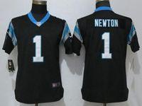 Women Nfl Carolina Panthers #1 Cam Newton Black Vapor Untouchable Elite Player Nike Jersey