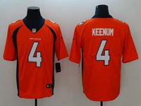 Mens Nfl Denver Broncos #4 Case Keenum Orange Vapor Untouchable Limited Jersey