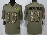 Mens Nfl New York Giants #13 Odell Beckham Jr Green Olive Camo Carson 2017 Salute To Service Limited Jersey