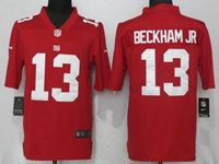 New Nfl New York Giants #13 Odell Beckham Jr Red 2017 Vapor Untouchable Limited Player Nike Jersey
