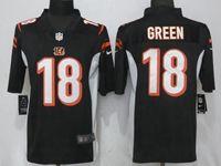 Mens Nfl Cincinnati Bengals #18 Aj Green Black Vapor Untouchable Limited Player Jersey