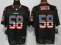 Mens Nfl Chicago Bears #58 Roquan Smith Black Usa Flag Fashion Elite Nike Jerseys