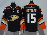 Mens Nhl Anaheim Mighty Ducks #15 Ryan Getzlaf Black Adidas Home Jersey