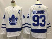 Mens Nhl Toronto Maple Leafs #93 Doug Gilmour White Away Adidas Jersey