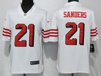 Mens Nfl San Francisco 49ers #21 Deion Sanders White Vapor Untouchable Limited Player Jersey
