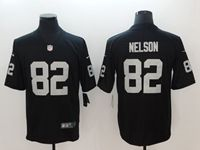 Mens Nfl Oakland Raiders #82 Jordy Nelson Black Vapor Untouchable Limited Player Jersey
