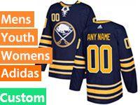 Mens Women Youth Adidas Nhl Buffalo Sabres (custom Made) Blue Home Breakaway Jersey