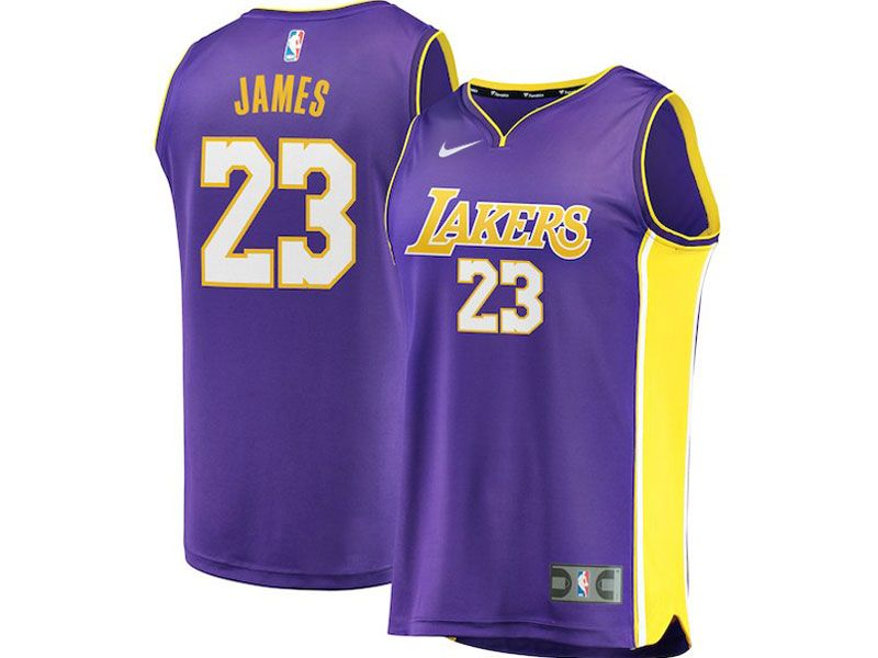 Mens Women Youth Nba Los Angeles Lakers #23 Lebron James Nike Swingman Purple Jersey