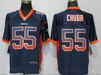 Mens Nfl Denver Broncos #55 Bradley Chubb Drift Fashion Blue Elite Nike Jersey