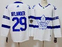 Mens Nhl Toronto Maple Leafs #29 William Nylander White Adidas 2018 Stadium Series Authentic Pro Player Jersey